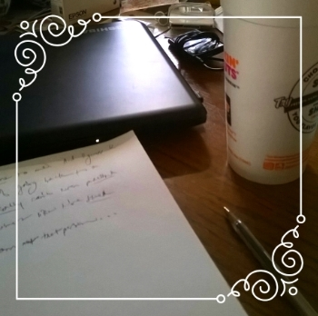 my daily journaling station